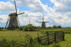 Dutch Windmills Stock Photo