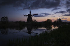 Dutch Windmills I Royalty Free Stock Photos
