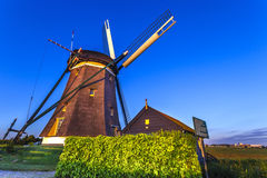 Dutch Windmills Keeper house Stock Photo