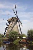 Dutch Windmills of Kinderdijk. The windmills of Kinderdijk in the Netherlands Royalty Free Stock Photo