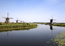 Dutch windmills in Kinderdijk 6 Stock Image