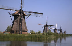 Dutch windmills in Kinderdijk 8 Royalty Free Stock Image