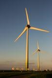 Dutch windmills. Sky wind holland Royalty Free Stock Photo