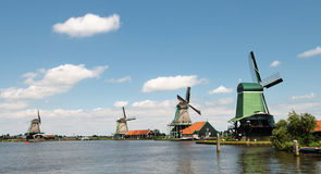 Dutch Windmills Zaandam Stock Image