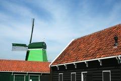 Dutch windmills in Zaanse Schans Stock Photography