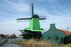 Dutch windmills in Zaanse Schans Stock Images