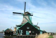 Dutch windmills in Zaanse Schans Stock Photos