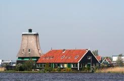 Dutch windmills in Zaanse Schans Royalty Free Stock Photos