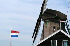 Dutch windmills in Zaanse Schans Stock Photo