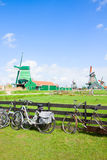 Dutch windmills in Zaanse Schans Royalty Free Stock Photo