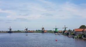 Dutch windmills at the Zaanse Schans Stock Photo