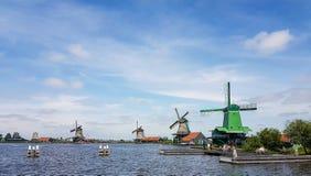 Dutch windmills at the Zaanse Schans Stock Image