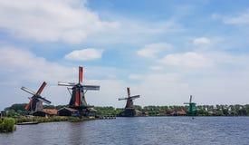 Dutch windmills at the Zaanse Schans Stock Photography