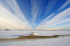 Dutch winter landscape Royalty Free Stock Images