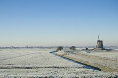 Dutch winter landscape Royalty Free Stock Image