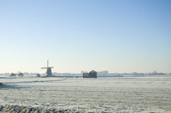 Dutch winter landscape Stock Photos