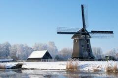 Dutch winter landscape Stock Photos