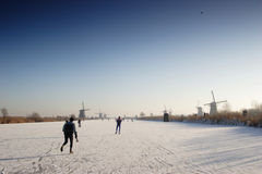 Dutch Winter Landscape Stock Image