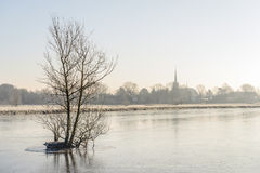 Dutch winter landscape Stock Photo