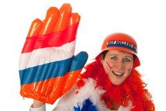 Dutch woman as soccer fan Stock Photography
