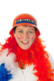 Dutch woman as soccer fan Royalty Free Stock Photography