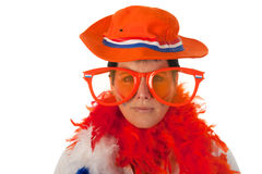 Dutch woman with funny sunglasses Royalty Free Stock Photos