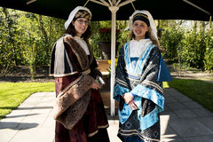 Dutch women in traditional clothes Stock Image