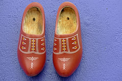 Dutch wooden clogs or klomp Royalty Free Stock Images