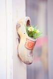 Dutch wooden shoe floral decor Royalty Free Stock Photo