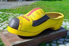 Dutch wooden shoe Royalty Free Stock Photo