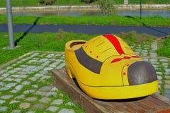 Dutch wooden shoe Stock Image