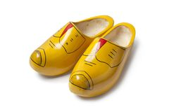 Dutch wooden shoes Stock Photo
