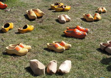 Dutch Wooden Shoes Or Klompen Stock Photo