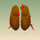 Dutch wooden shoes (klompen) Stock Photo