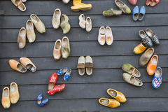 Dutch wooden shoes Royalty Free Stock Photos