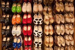 Dutch Wooden Shoes Wall Display Royalty Free Stock Image