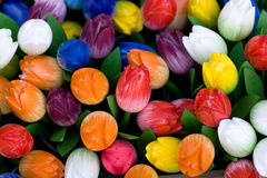 Dutch wooden tulips Royalty Free Stock Photo