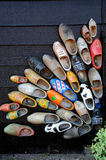 Dutch wooden shoes Royalty Free Stock Images