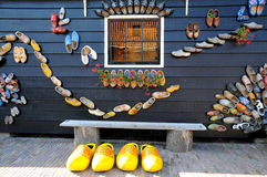 Dutch wooden shoes Royalty Free Stock Image