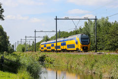 Free Dutch Yellow And Blue Train Stock Photos - 85717113