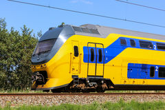 Dutch yellow and blue train Royalty Free Stock Image