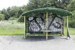 Dutch youth meeting area. With graffiti Royalty Free Stock Photography
