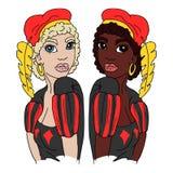 Dutch Zwarte Piet and Witte Piet Stock Image