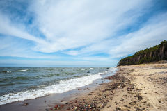 Dutchman s Cap beach in Lithuania Stock Photos