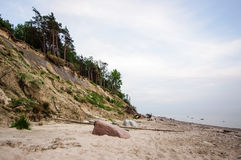 Dutchman's Cap beach in Lithuania Stock Images