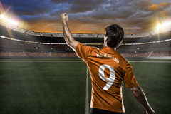 Dutchman soccer player Royalty Free Stock Image