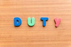 Duty Royalty Free Stock Photos