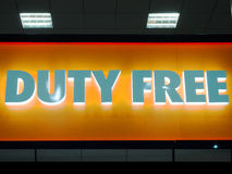 Duty free σημάδι Στοκ φωτογραφίες με δικαίωμα ελεύθερης χρήσης
