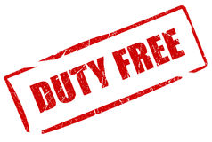 Duty free. Stamp isolated on white Royalty Free Stock Images