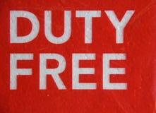Duty free Στοκ εικόνα με δικαίωμα ελεύθερης χρήσης